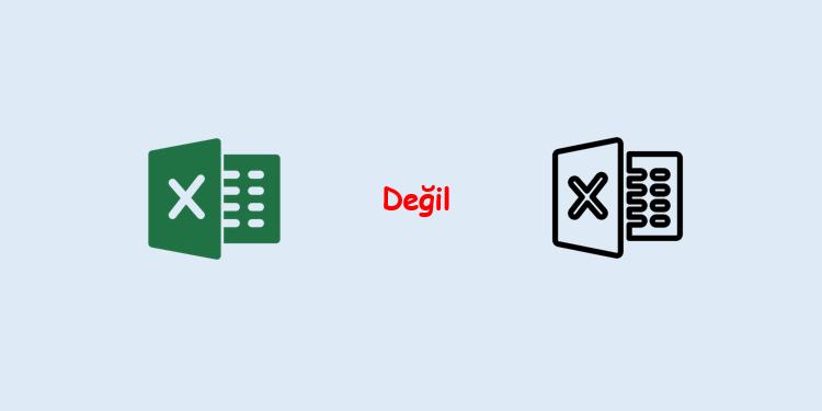 Excel Değil Fonksiyonu