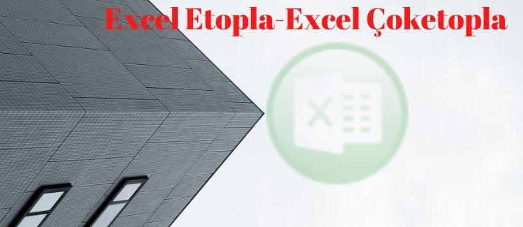 Excel Etopla Formülü