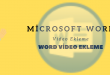 Word Video Ekleme