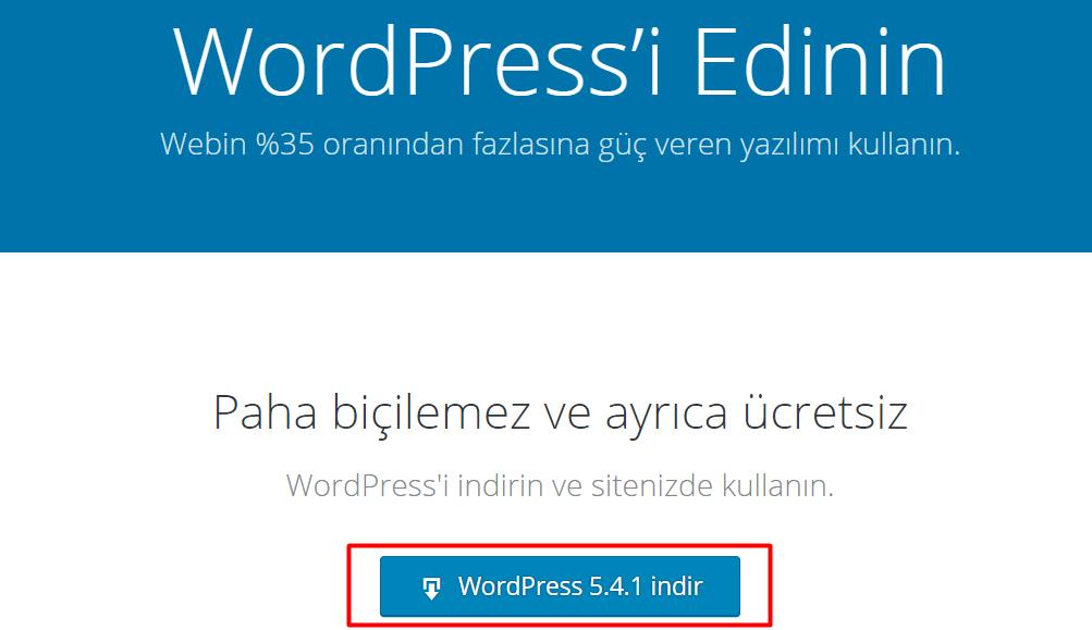 WordPress Nasıl İndirilir