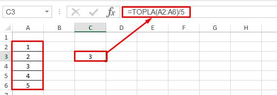 Excel Ortalama