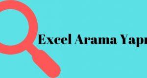 Excel Arama