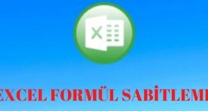 Excel Formül Sabitleme
