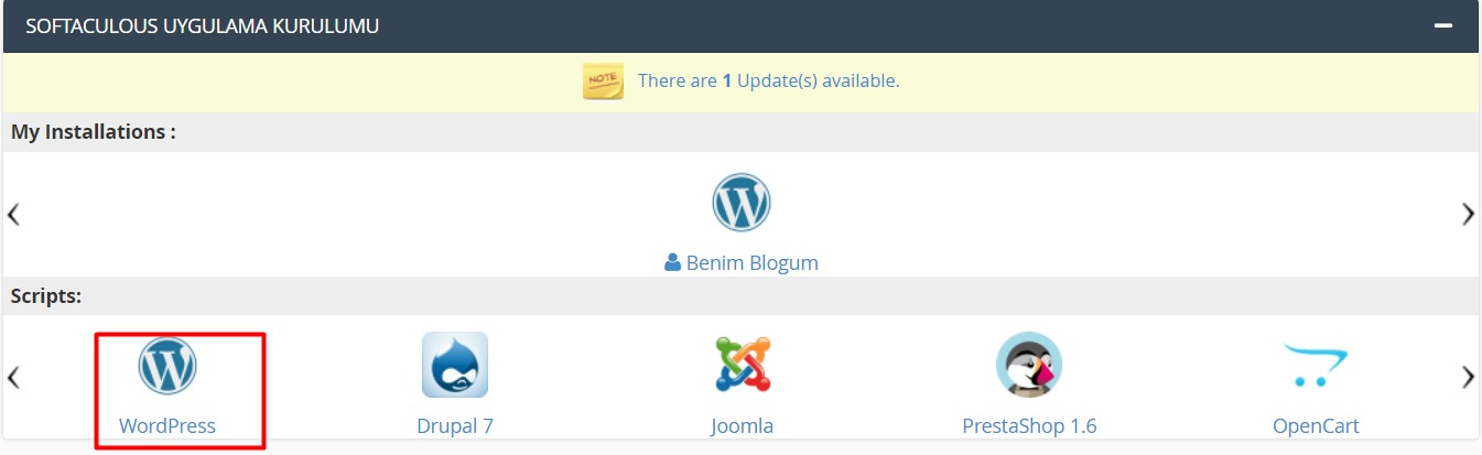 wordpress kurulumu 3
