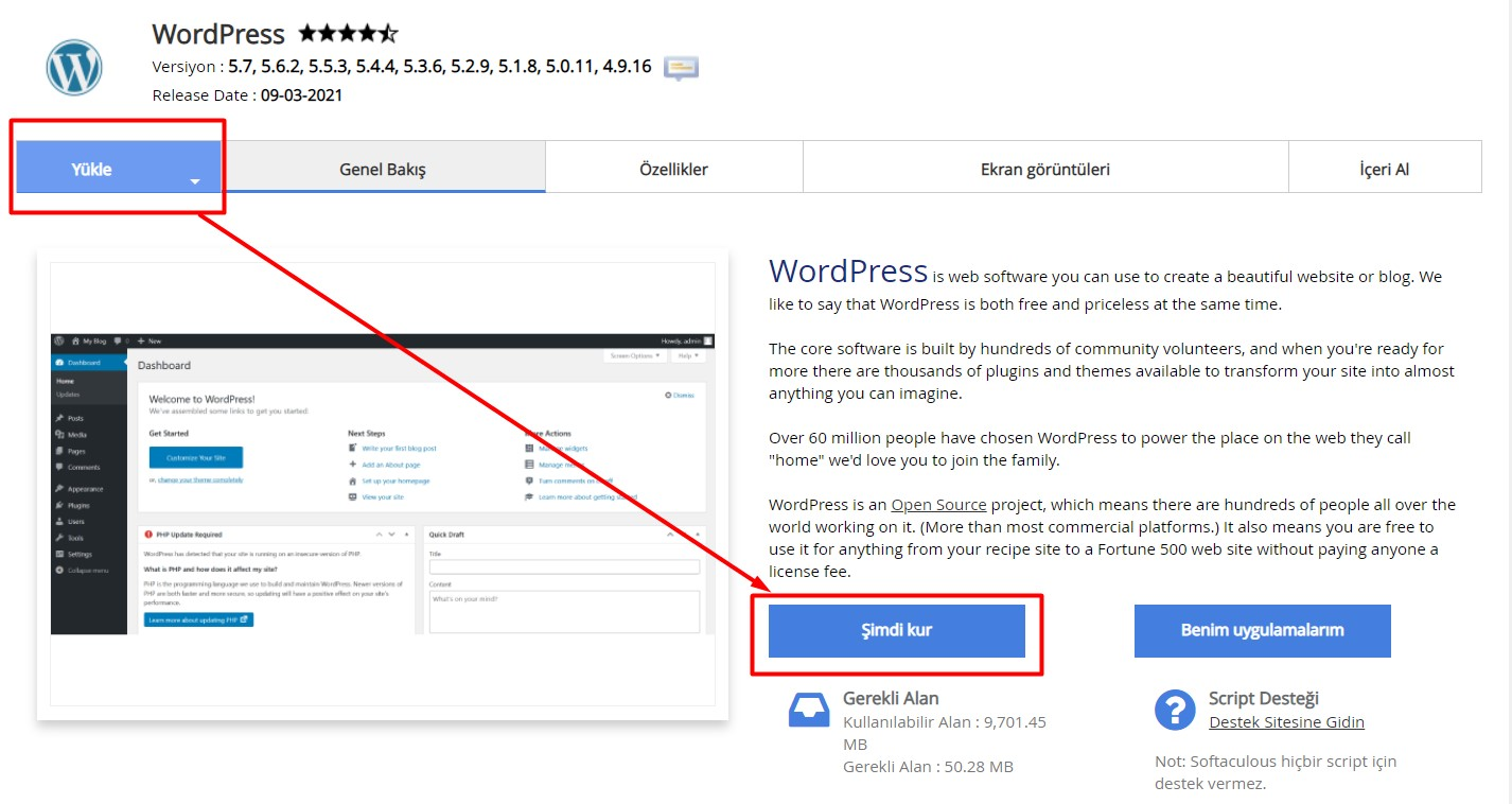 wordpress kurulumu 4